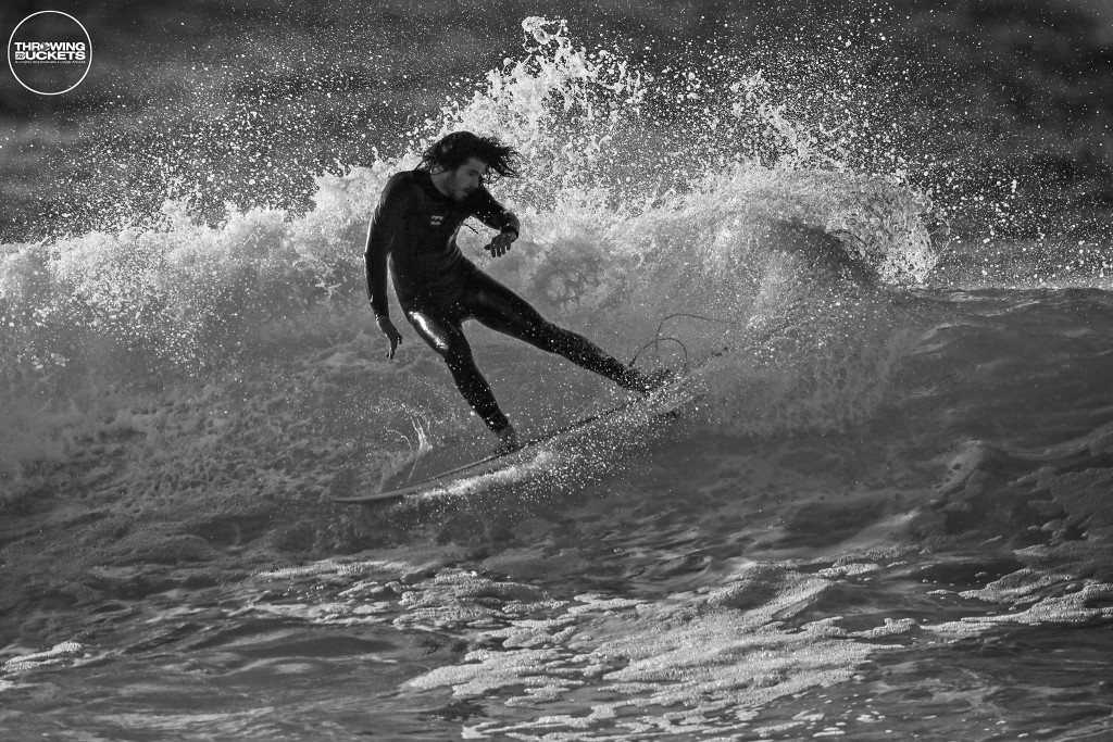 Brad ripping in his Xero Pro. Photo: Throwing Buckets