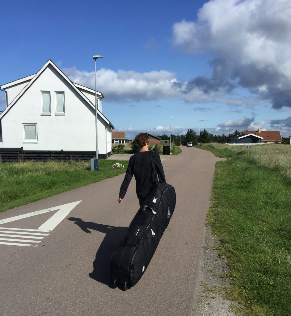 Stoked to have wheels during the 2km walk to our house in North Denmark
